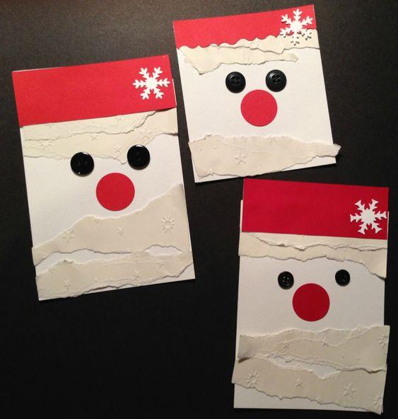 cartes Père Noël Gingkascrap:
