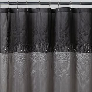 Kmart Disco Silver Fabric Shower Curtain Would Look Nice With Black Accessories Linens 39 N