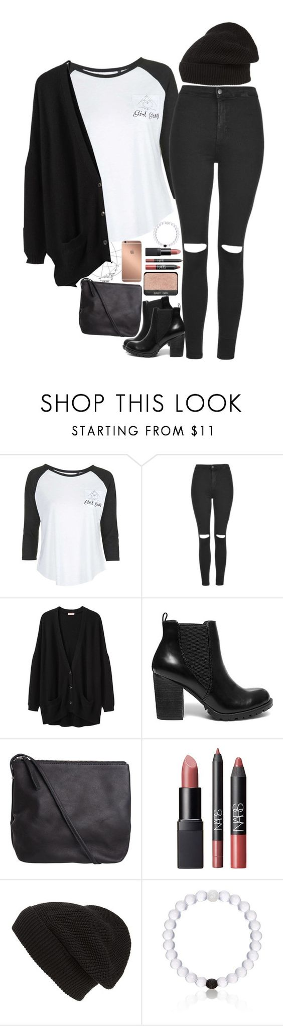 """""""Untitled #2408"""" by sisistyle ❤ liked on Polyvore featuring Tee and Cake, Topshop, Organic by John Patrick, Steve Madden, Pieces, NARS Cosmetics, Phase 3, Everest and Mura"""