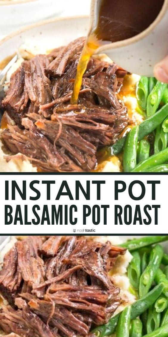 Instant Pot Balsamic Pot Roast