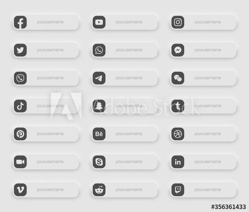 Popular Social Media Lower Third Icons 3d Banner Vector Set On Light Background Design Elements For Digital Busines Banner Vector Social Media Instagram Frame