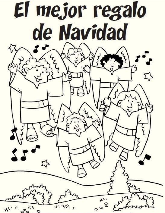 Christmas In Spanish December Coloring Pages Bible Lessons Christmas Coloring Pages Cinderella Coloring Pages