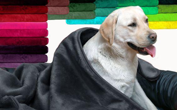 tierlando - Plüsch-Hundedecke LILLY in vielen Größen und Farben