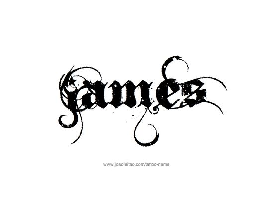 james name tattoo designs fonts james d 39 arcy and cute designs. Black Bedroom Furniture Sets. Home Design Ideas