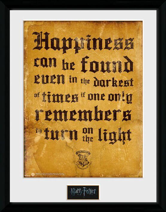 Gerahmtes Bild Happiness Geschenk Fur Harry Potter Fans Der Gefangene Von Askaban Hogwarts Harry Potter Geschenke