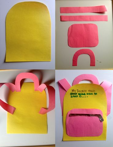 Back to School Backpack Craft Idea for Kids