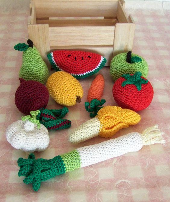 Frutta e verdura giocattolo ad uncinetto : Giochi, giocattoli di ichigocreations