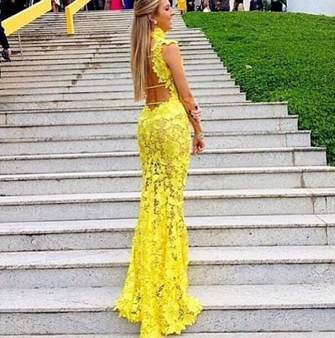 Sexy dress yellow