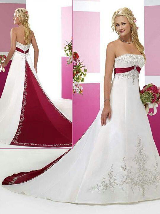 Wedding Dresses with Black Trim