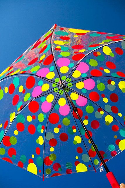 Colorful life is happy life! Polka dot umbrella