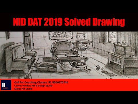 Nid Dat 2019 Solved Drawing Youtube Drawings Drawing Tutorial