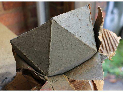 Diy Geometric Concrete Bookends Tutorial Vasos De Cimento Artesanato De Cimento Vasos Suspensos