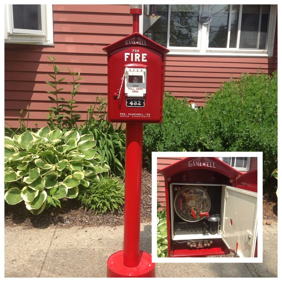 A nicely restored #Gamewell Fire Call Box. Just as good looking inside as out. All working and even came with the key.