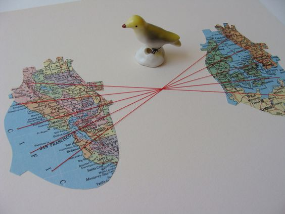 CUSTOM ORIGINAL Embroidered Map Collage Cartography by selflesh, $75.00