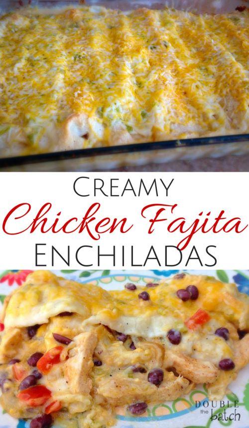 Enchiladas, Creamy chicken and Chicken on Pinterest