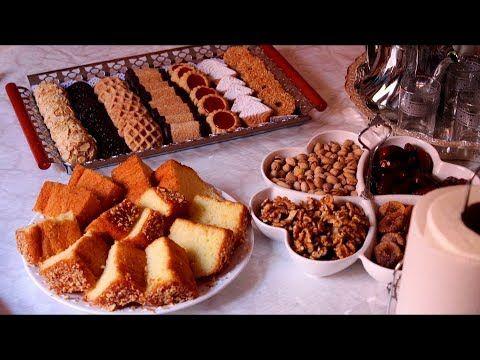 تجهيز مائدة شاي سهلة للضيوف حلويات بسيطة مشكلة من نفس العجين بمكون جديد Youtube Food Macarons Biscuits