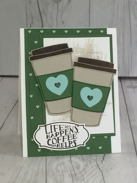 Stampin' Up! Coffee Cafe stamp set used to make hand made card