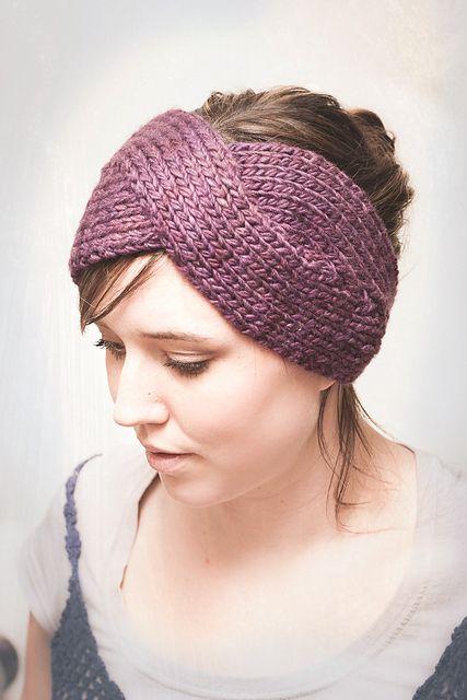 Twist Headband Knitting Pattern : Parisian Twist Headband Ear Warmer pattern by Elisa McLaughlin Knitted head...