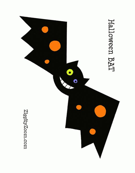 Halloween Bat Printable | Ziggity Zoom