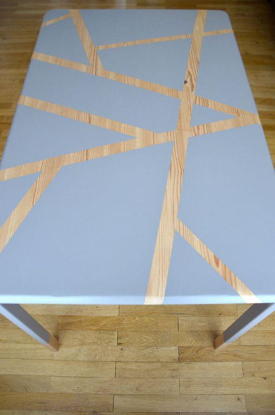 Pinterest le catalogue d 39 id es - Customiser une table basse en bois ...
