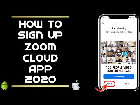 How To Sign Up Zoom Cloud App 2020 How To Sign In Zoom Cloud App 2020 Youtube Zoom Cloud Meetings My Facebook Profile Who Viewed My Facebook