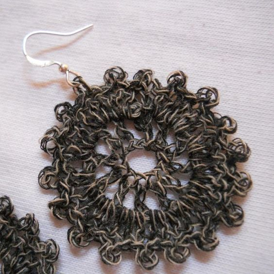 Crochet Circle Earrings #1 | Patrón gratis, Círculos y Arte