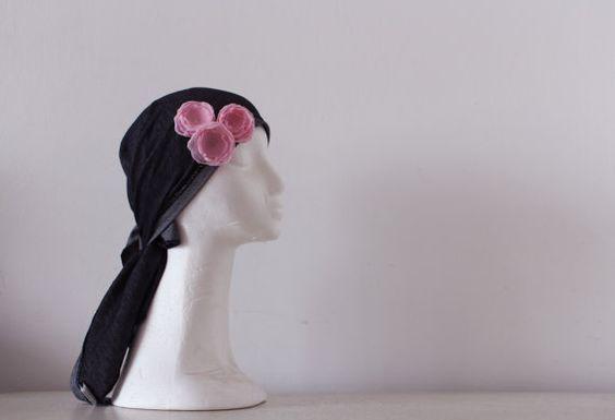 Bandana Tichel Mitpachat Spring Blooming Roses Israel by Bandanas, $24.50
