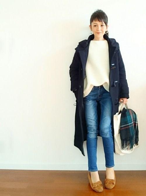 U E Made Guのwomen シューズを使ったコーディネート Wear ピーコート レディース ピーコート レディース コーデ ファッション
