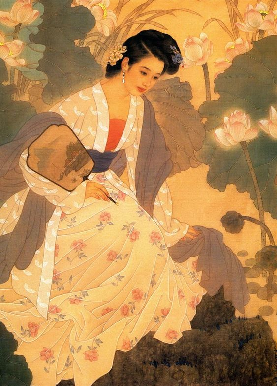 by Wang Mei Fang and Zhao Guo Jing. Chinese paintings of women #SilkRoute