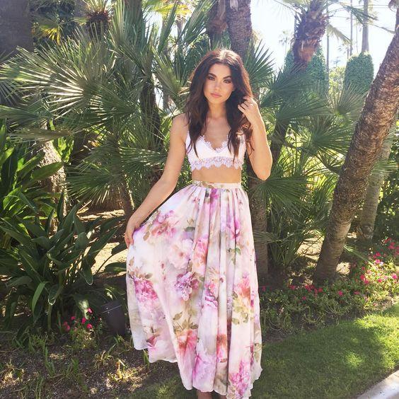 Lurelly Floral Venteux Skirt