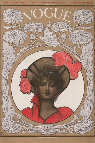 vogue covers artists, Ethel Wright, Vogue cover, November 1902 issue, 1902