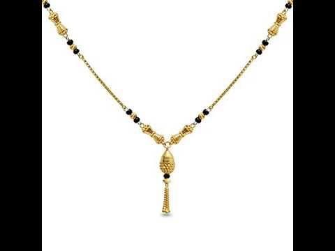 Light Weight Gold Black Beads Mangalsutra Designs Under 12 Gram And Price Under Rs 400 Black Beads Mangalsutra Design Gold Necklace Designs Mangalsutra Designs