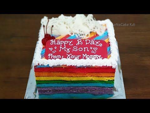 Ide Bisnis Rumahan Menghias Kue Ulang Tahun Rainbow Cake Kue Ultah Kue Tart Sederhana Youtube Kue Tart Hiasan Kue Kue
