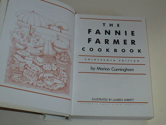 Vintage Cookbook The Fannie Farmer Cookbook 1993 by booksvintage, $18.00