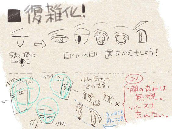 【初心者向け】45度とかの顔をそれっぽく描きたい人への講座 [8]