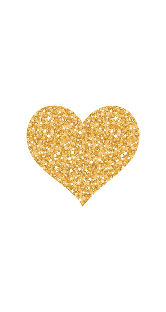 gold glitter heart  by Pei: