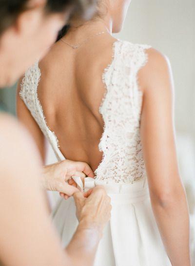 Gorgeous dress: http://www.stylemepretty.com/2014/12/19/glamorous-french-riviera-wedding/   Photography: Greg Finck - http://www.gregfinck.com/