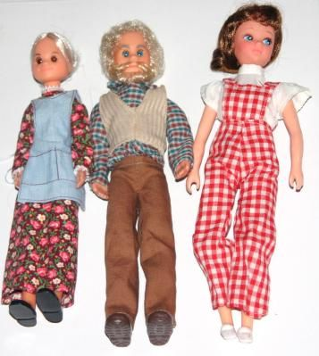 Vintage Mattell Sunshine Family Dolls - Excellent Condition!