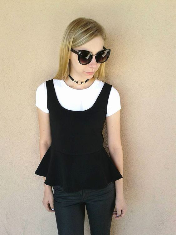 Transition your #favorite #summer tops for #BackToSchool by layering them over a cute baby tee. Add a #stylish #choker and some #designer shades and you're #GoodToGo. #FashionHacks #FallFashion #StyleIcon #PlatosTucson | www.platosclosttucson.com