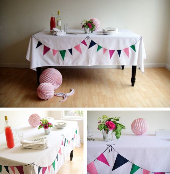 bunting tablecloth