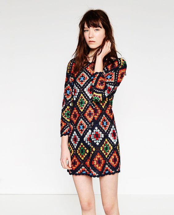 ZARA Mini Crochet Dress