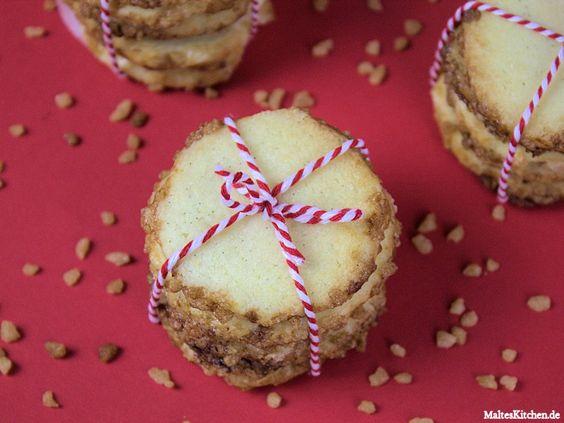 Heidesand Kekse mit Marzipan