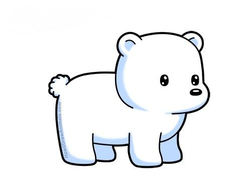Learn How To Draw A Cartoon Polar Bear With This How To Video And Step By Step Drawing Instructions C Polar Bear Drawing Laugh Cartoon Easy Drawings Sketches