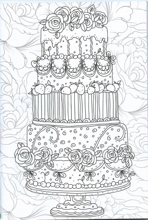 Coloriage adulte patisserie coloring pages pinterest - Dessin patisserie ...