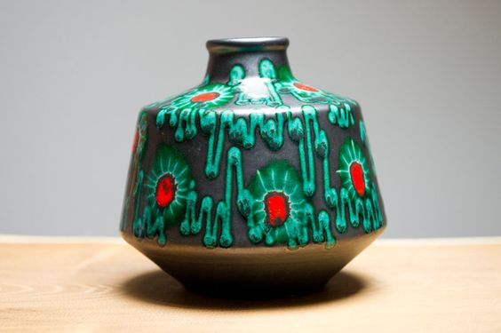 The coolest UFO shaped piece of West German Pottery I have seen. Clemens and Huhn.