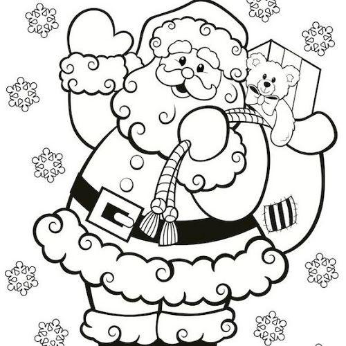 70 Desenhos De Papai Noel Para Colorir Pintar Imprimir Natal