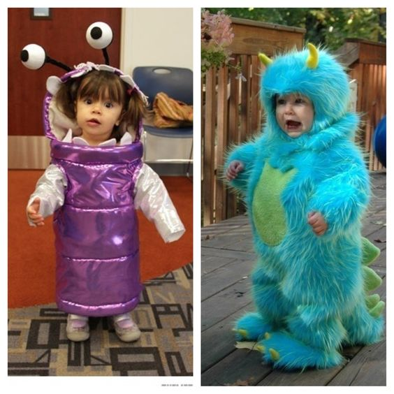 Brother sister Monsters INC costumes!