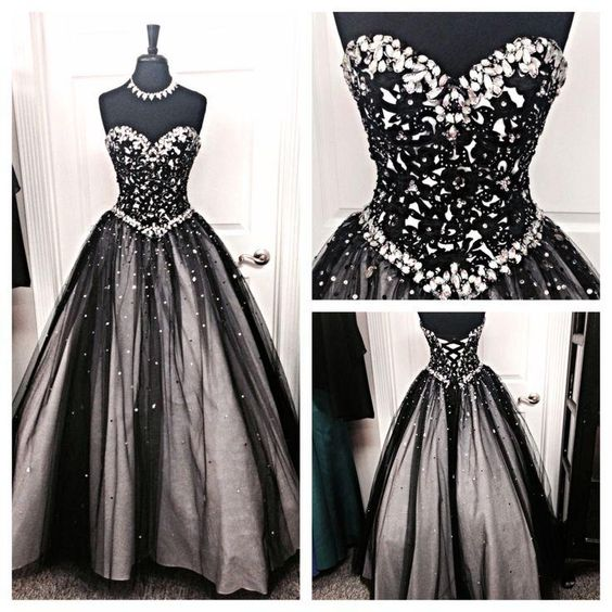 2015 Dresses Black And Silver Stones Prom Dresses Tulle Sweetheart Corset Prom Ball Gowns Fashion Dress For Party Vestido De Formatura Prom Dress Shops In Essex From Adminonline, $128.71| Dhgate.Com