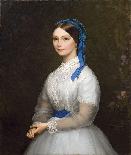 Portrait of Mademoiselle Mathilde de Nédonchel | Alexis Joseph Pérignon (1869):