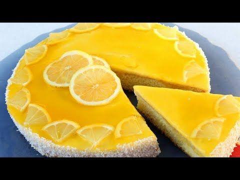 كيكة الليمون المنعشة بطبقات باردة بست معالق دقيق فقط لذييييذة Youtube Dessert Recipes Food Desserts